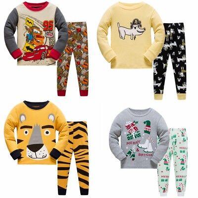 Boys Tiger cartoon pattern pajamas set Suitable for 80-130CM height cotton PY