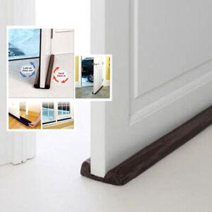 Twin Door Draft Dodger Guard Stopper Energy Saving Doorstop Protector Home