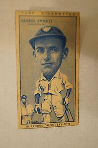 1950-Vintage-Cricket-Card-Carreras-Turf-Slides-George-Emmett-Gloucester
