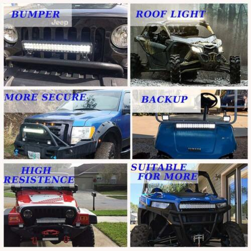 For Chevy Silverado 20inch Spot Flood LED Light Bar On Reverse Front Rear Bumper