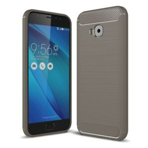 Asus-Zenfone-4-Selfie-ZD553KL-COQUE-Fibre-de-Carbone-Optique-Brushed-Etui-Gris