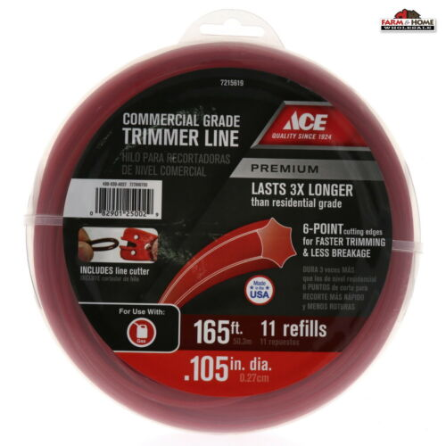 Trimmer Line Refill .105 inches x 165 foot Commercial Grade ~ New