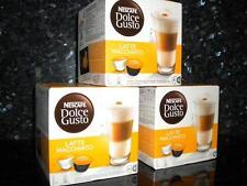 DOLCE GUSTO 48 LATTE MACCHIATO PODS 3 X 16 COFFEE NEW FREE P&P
