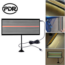 Pdr Tool Paintless Dent Removal Repair Led Line Board Scratch Reflector Tool Kit