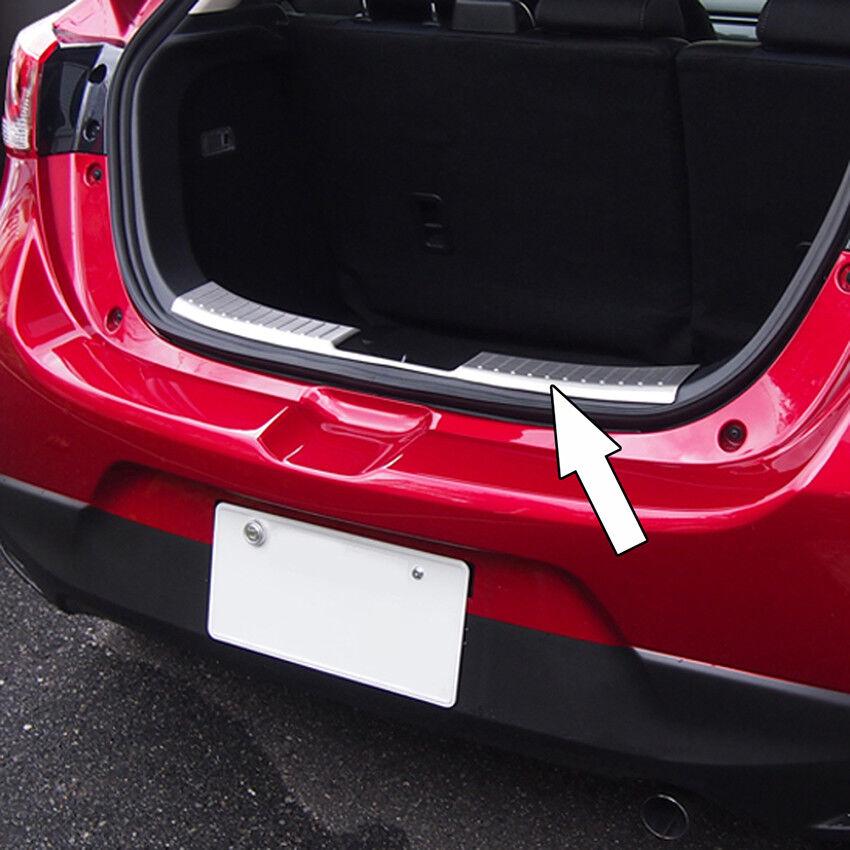 Rear Outer Bumper Guard Sill Plate Cover Trim Fit Mazda 2 DEMIO 201516 Steel