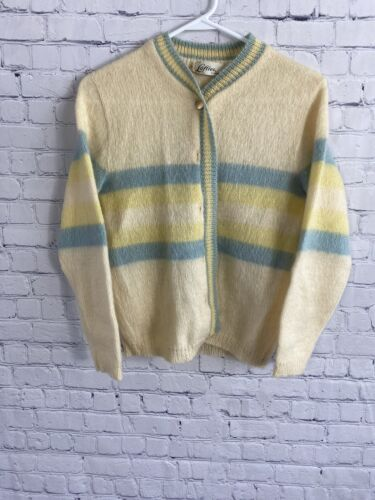 Vintage 50s 60s Orange Knit Mohair Wool Lofties By