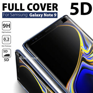 5D Samsung Galaxy S9+ S8 Plus Note 9 8 Tempered Glass FullCover Screen Protector