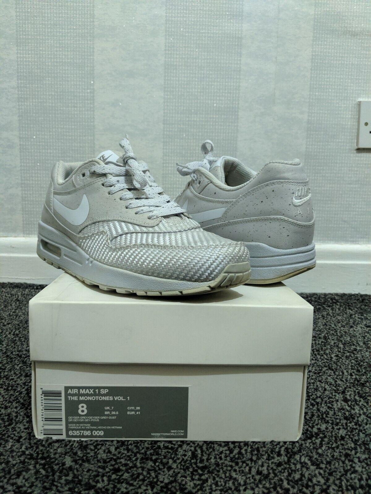 Nike Air Max 1 SP The Monotones Vol.1 Trainers SNEAKERS UK 7.5 635786 009