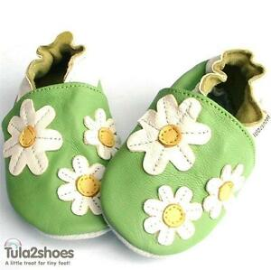 Tula2shoes-NEW-LEATHER-BABY-GIRLS-SHOES-Daisy-Daisies-0-6-12-18-24-Months