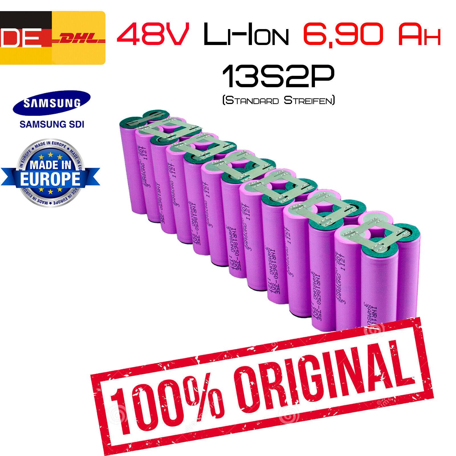 48v 6,90ah Li-ion conjuntos de baterías   13s 2p   Samsung inr18650-35e