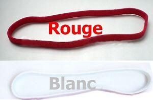 Duo-Elastique-Cheveux-Headband-Stretch-100-400-mm-Rouge-Blanc-Sport-Mixte-Hair