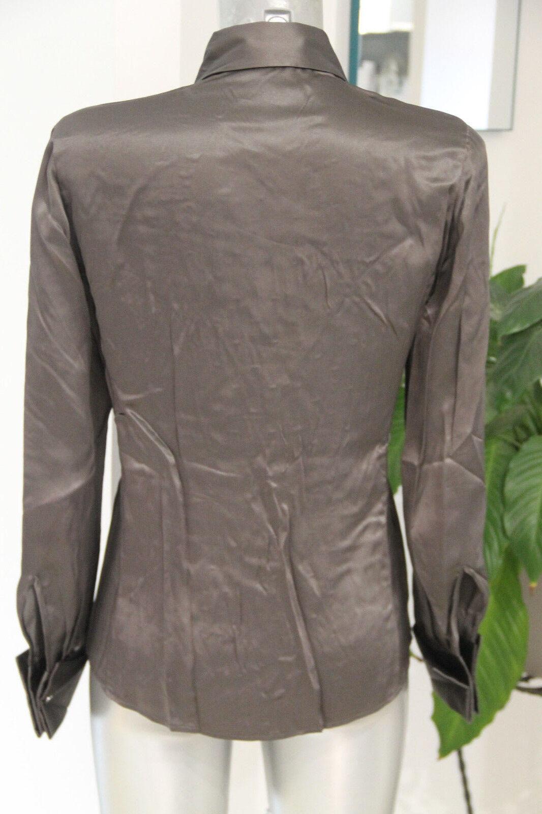 Carino Carino Carino camicia satinata openwork grigio talpa donna HUGO BOSS taglia 40 014b6a