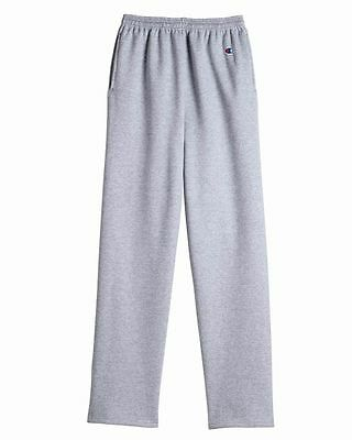 Champion Mens Eco Sweatpants with Pocket and Open Bottom 3 Colors S-2XL