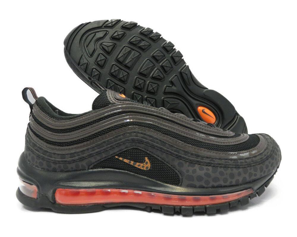 BQ6524-001 Nike Air Max 97 SE Reflective (Off black   Total orange) Men Sneakers