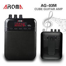 Black Cube Aroma AG-03M Mini Electric Guitar Amplifier Speaker Amp 5W 25Hz-20KHz