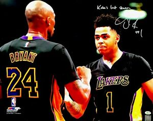 aeda1b1348d D'Angelo Russell Autograph Kobe Bryant's Last Season Signed 16x20 ...