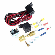 NEW 200-185 DEGREE ELECTRIC FAN THERMOSTAT WIRING RELAY SWITCH INSTALL KIT