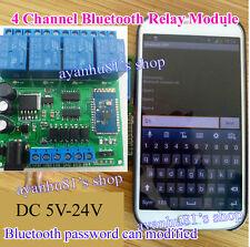 DC 5V 9 12V 24V 4-Channel Bluetooth Relay Module Wireless Remote Control Switch