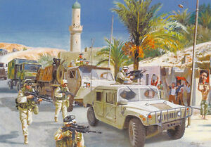 "/""Always Ready/"" Don Stivers Signed Print Operation Iraqi Freedom"