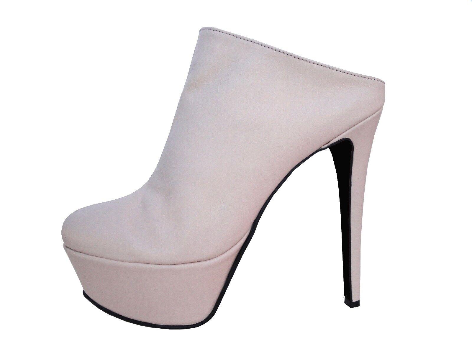 giohel italie sandales sandales pantoletten nouveau sabot pantoletten sandales nu slip-on cuir beige 39 0aacb5