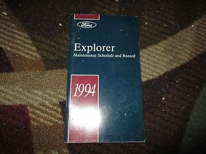ford explorer factory maintenance schedule owners manual supplement booklet ebay