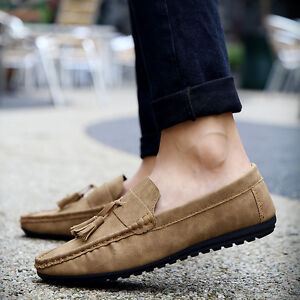 45f4da471e8 2018 New Fashion England Men s Driving Moccasin Loafer Leather ...