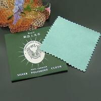 5x Silver Polishing Cloth Jewelry Silver Gold Platinum Anti-tarnish Cleaner Pop