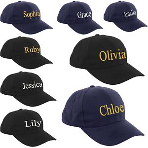 La imagen se está cargando nina-infantil-Mujer-Adulto-Gorra-Beisbol -nombres-sombrero- 15c53f833fb