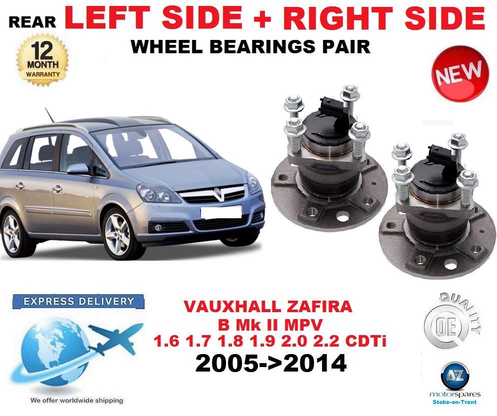 Für Opel Zafira B 2005- 2005- 2005-   2014 Hinterradlager Linke Seite + Rechts Paar 88b6c9