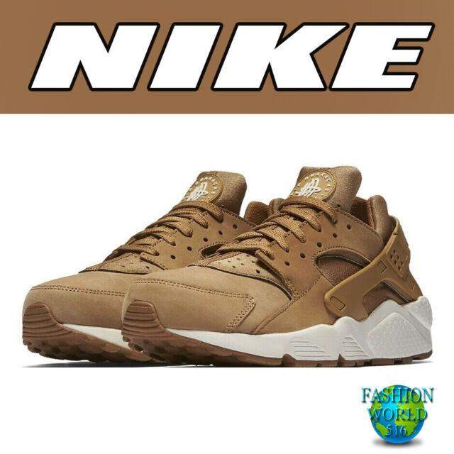 1682d66bc9b39 Nike Air Huarache Mens 318429-202 Flax Sail Gum Brown Running Shoes ...