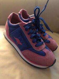Details about KANGAROOS PINK BLUE retro vtg ROOS Zipper Pocket Tennis Shoes  6