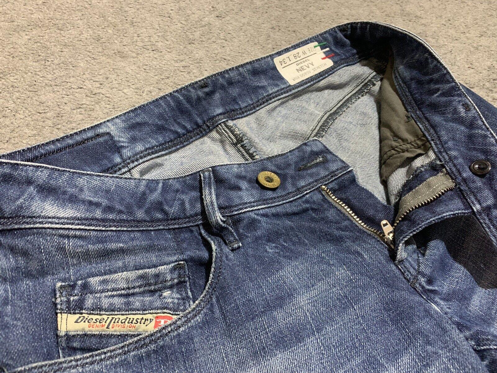 NEVY Wash 008SV DIESEL Stretch Jeans Aderenti W28 L34 in buonissima condizione