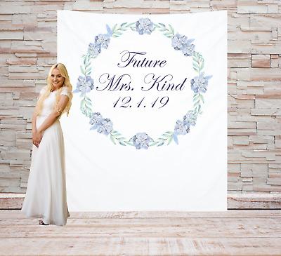 Personalized Bridal Shower Backdrop Customized Banner Custom Sign Decoration 1 Ebay