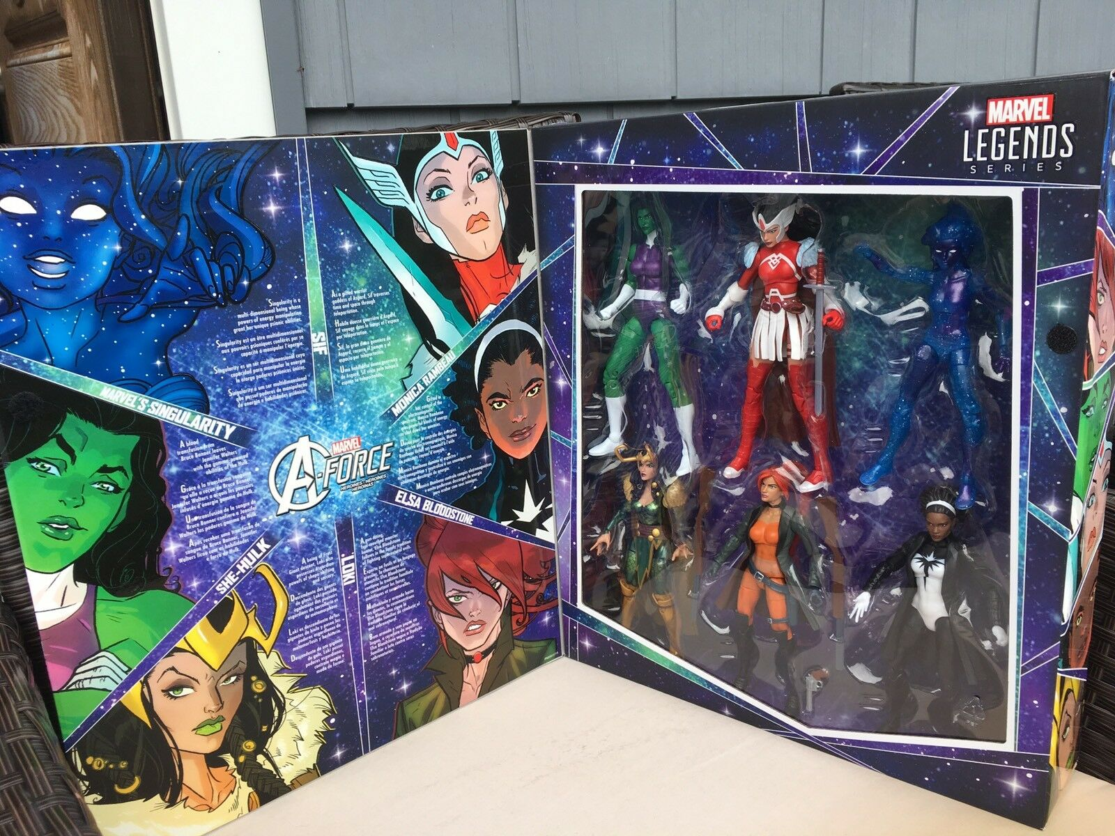 SDCC 2017 Marvel Legends Series A-FORCE Eroine 6-Pack giocattoli'R Us Exclusive