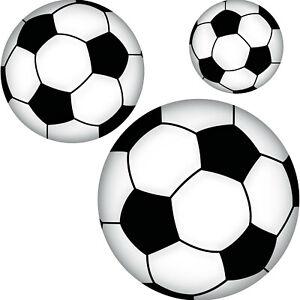 Set Aufkleber 10cm 15cm 20cm Fußball Sticker Ball Sport EM