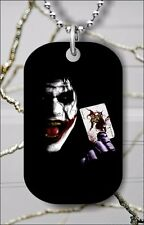 THE JOKER FACE DOG TAG PENDANT NECKLACE FREE CHAIN -srf4Z