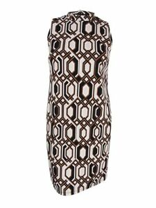 INC-International-Concepts-Women-039-s-Plus-Printed-Shift-Dress-0X-Hexagon-Geo