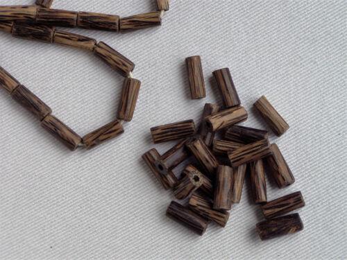Perlen Ø 7mm Zylinder länglich top 25 Stück Holzperlen Kokosnussperlen