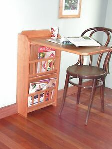 Image Is Loading Fold Out End Table Desk Amp Magazine Rack
