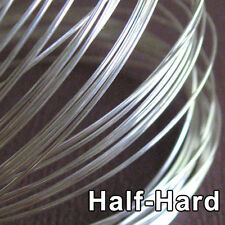 3FT Solid Sterling Silver Wire 20ga Round - 20 gauge - Half Hard- Top Quality