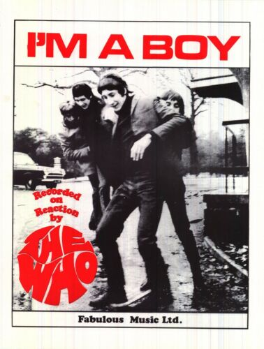 TOUR POSTER~The Who I/'m A Boy Group W//Pete Townshend Roger Daltrey Keith Moon~