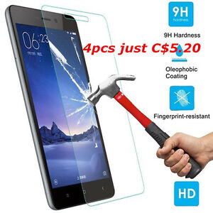Real-9H-Tempered-Glass-Film-Screen-Clear-Protector-For-XiaoMi-Redmi-Note-Phone
