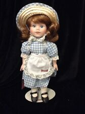 "NOS Little Debbie Porcelain Doll - 12.5"" Tall, IOB with Stand"