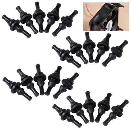 1 of 1 - 20pcs Black Soft Rubber Cooling PC Fan Screw Mount Pin Rivet Anti Vibration