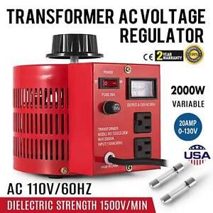 20A-110V-Variac-Variable-2000W-AC-Power-Transformer-Regulator-0-130V-20A