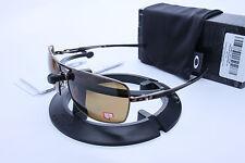 New Oakley Plaintiff Squared Dark Brown Chrome w/Bronze Polarized  OO4063-06