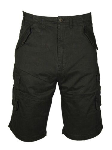 Mens Shorts Combat Cargo Chino Cotton Casual Big King Sizes in Black /& Khaki