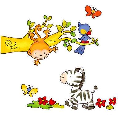 Zoo Animale Muro Adesivo Decalcomania Bambini / Bambini Camera Da Letto-mostra Il Titolo Originale
