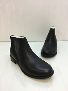 Women-s-Vionic-Country-Thatcher-Black-Leather-Ankle-Pull-On-Boots-Size-6-5-NIB