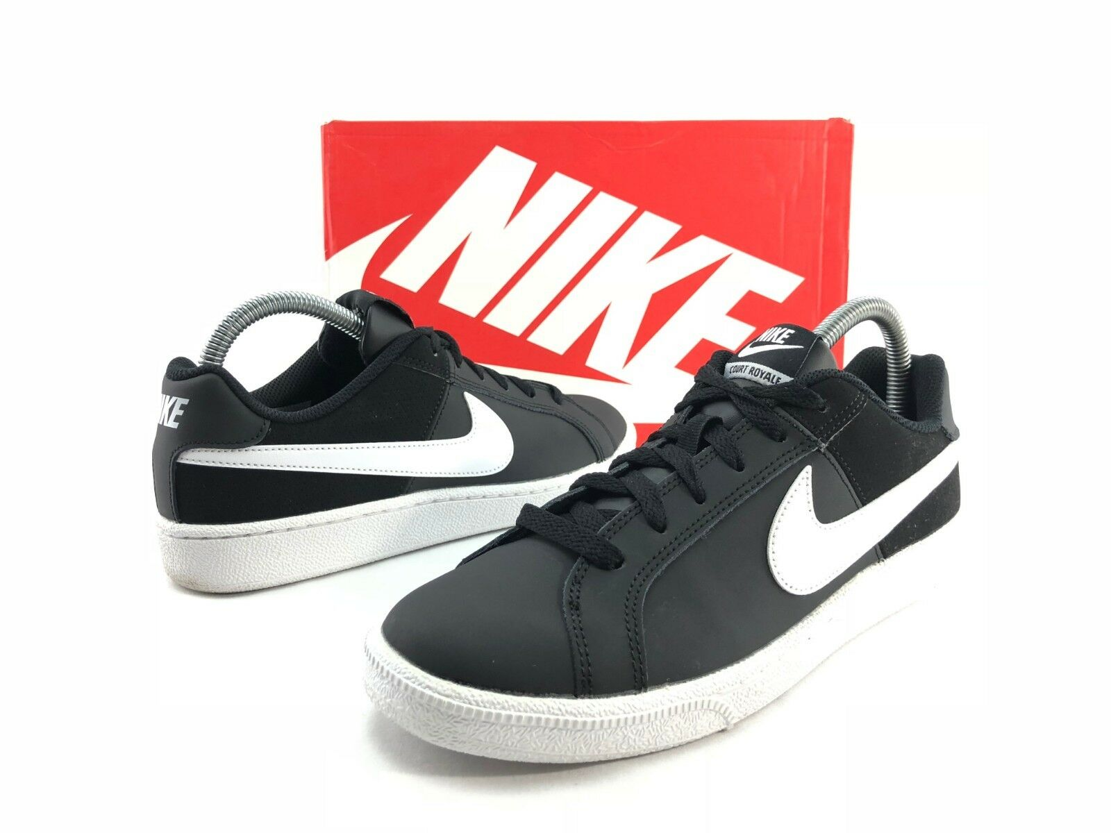 Nike Court Royal Women's Black White Athletic Sneakers Fashion shoes US 9.5 C450